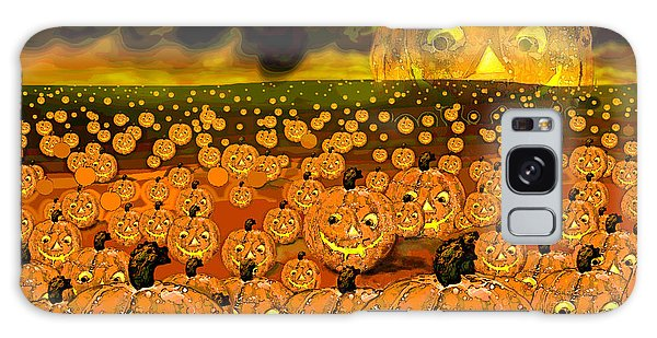 Midnight Pumpkin Patch Galaxy Case