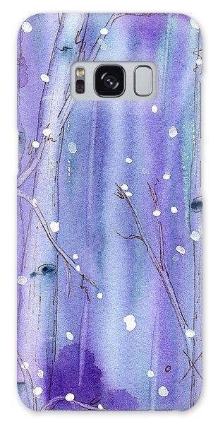 Midnight Snow In The Aspens Galaxy Case