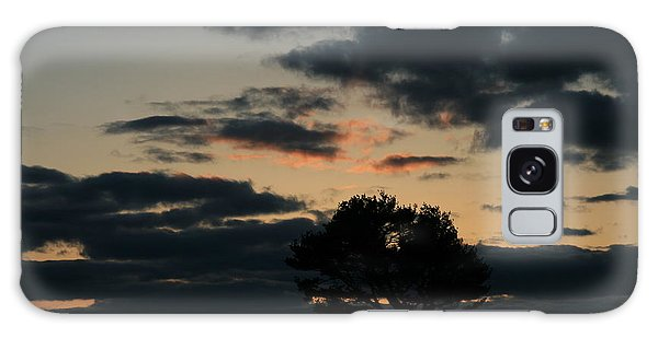 Farm Pasture Midnight Sun  Galaxy Case by Neal Eslinger