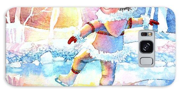 Olympic Figure Skating Galaxy Case - Midnight Sun Skating Fun by Hanne Lore Koehler