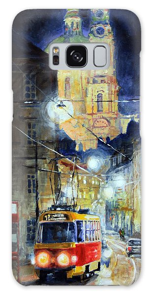 Light Galaxy Case - Midnight Tram  Prague  Karmelitska Str by Yuriy Shevchuk