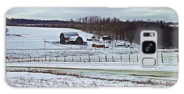 Midwinter On The Farm Galaxy Case by Christian Mattison