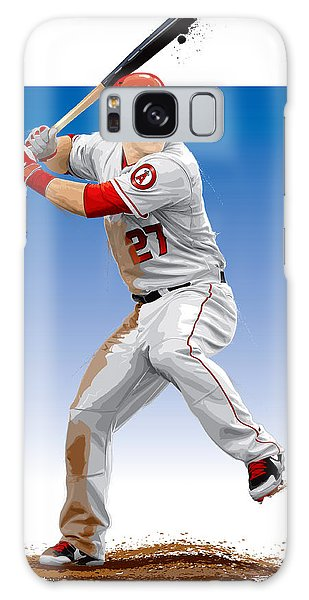 Mike Trout Galaxy Case by Scott Weigner
