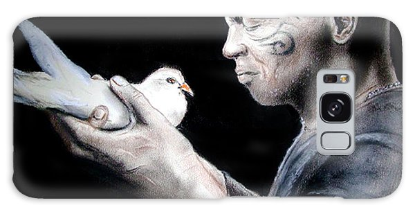 Mike Tyson And Pigeon Galaxy Case by Jim Fitzpatrick
