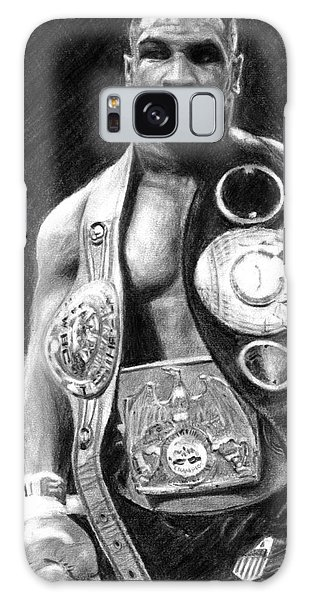 Mike Tyson Pencil Drawing Galaxy Case