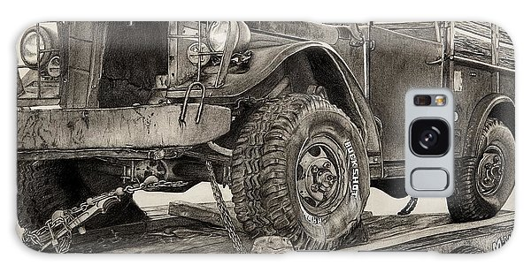 Old Truck Galaxy Case - Miles And Miles by Mike Sangh