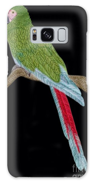 Military Macaw Galaxy Case by Walter Colvin