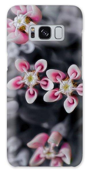 Milkweed Snowflakes Galaxy Case by Henry Kowalski