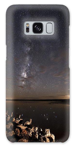 Milky Way And Moon Reflecting Galaxy Case
