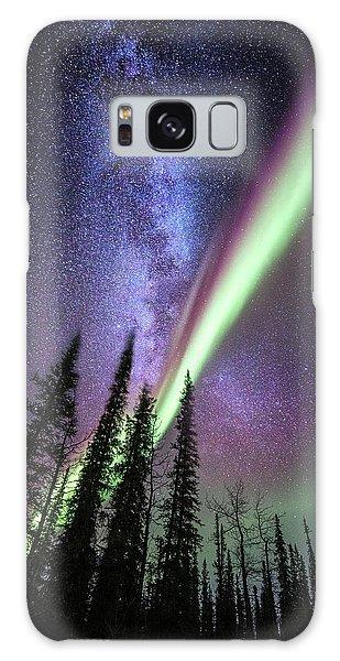 Milky Way And The Aurora Borealis Galaxy Case