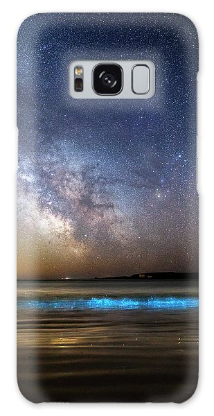 No-one Galaxy Case - Milky Way Over Bioluminescent Plankton by Laurent Laveder