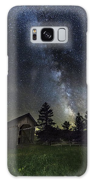 Milky Way Over Foster Covered Bridge Galaxy Case by John Vose