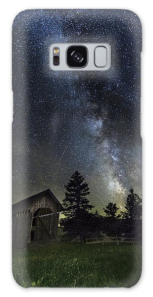 Milky Way Over Foster Covered Bridge Galaxy Case