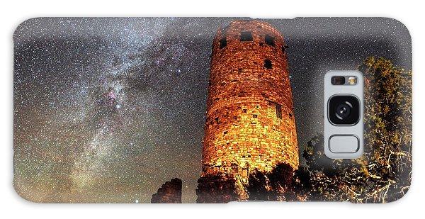 Desert View Tower Galaxy Case - Milky Way Over Grand Canyon Watchtower by Babak Tafreshi