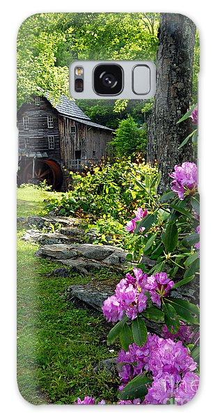 Mill And Rhododendrons Galaxy Case