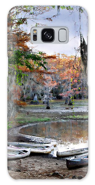 Mill Pond Canoes Galaxy Case by Lana Trussell