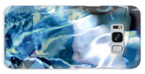 Milla Jovovich Portrait - Water Reflections Series Galaxy Case