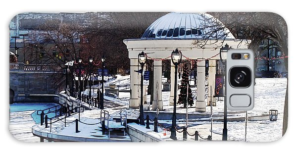 Milwaukee River Walk 3 - Pere Marquette Park - Winter 2013 Galaxy Case by David Blank