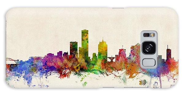 Watercolour Galaxy Case - Milwaukee Wisconsin Skyline by Michael Tompsett