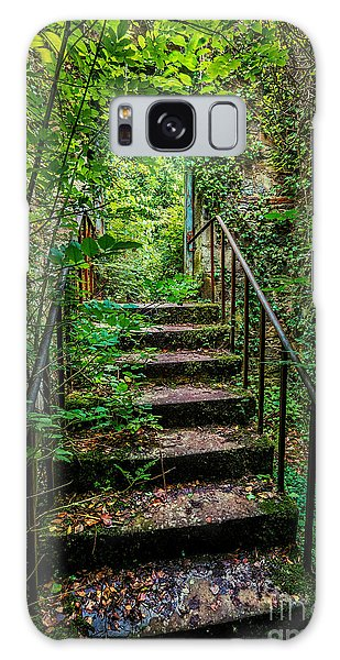 Banister Galaxy Case - Mind Your Step by Adrian Evans