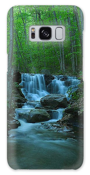Miners Run Falls #1 - Evening Glow Galaxy Case