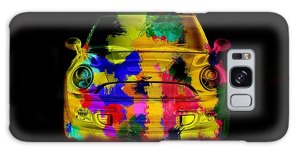 Mini Cooper Colorful Abstract On Black Galaxy Case by Eti Reid