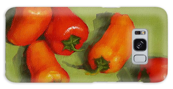 Mini Peppers Study 2 Galaxy Case by Margaret Stockdale
