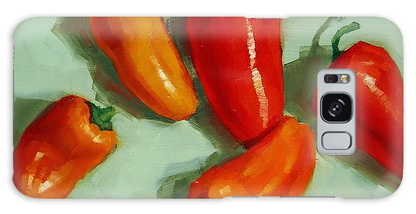 Mini Peppers Study 3 Galaxy Case by Margaret Stockdale