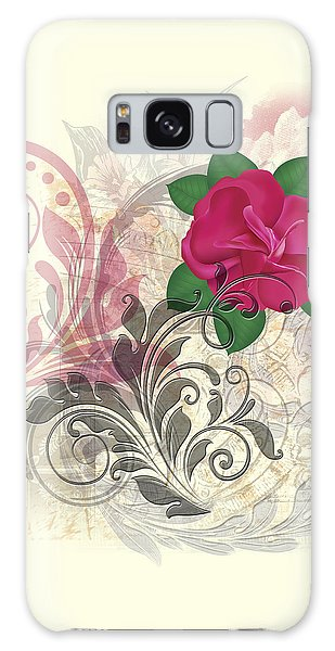 Mini Rose Flourish Galaxy Case