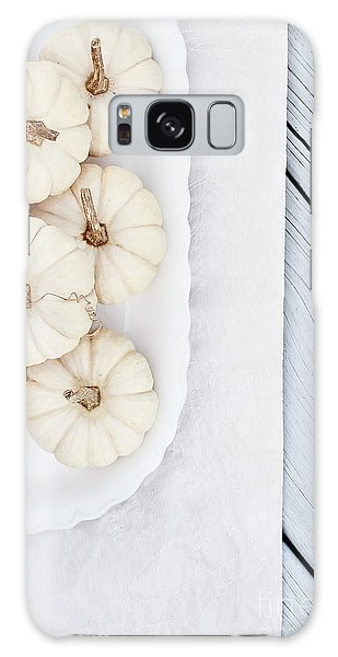 Mini White Pumpkins Galaxy Case