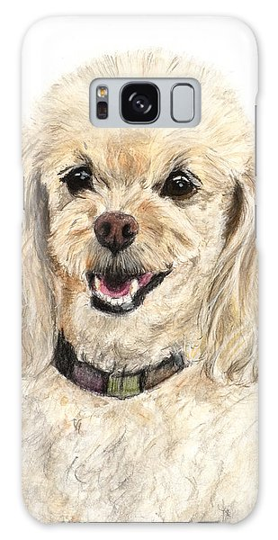 Miniature Poodle Painting Champagne Galaxy Case by Kate Sumners