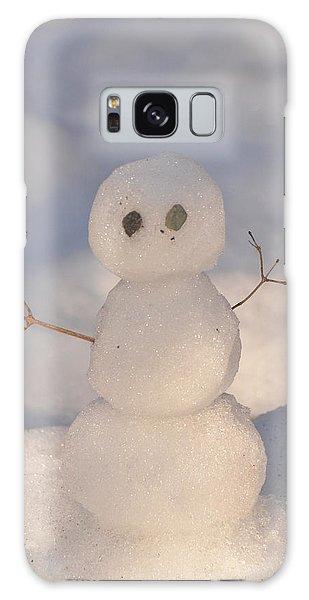 Miniature Snowman Portrait Galaxy Case by Nancy Landry