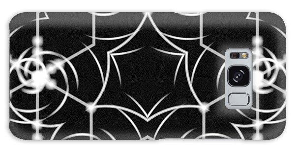 Galaxy Case featuring the digital art Minimal Life Vortex by Derek Gedney