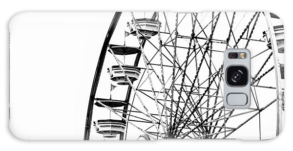 County Fair Galaxy Case - Minimalist Ferris Wheel - Square by Jon Woodhams