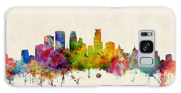 City Scenes Galaxy S8 Case - Minneapolis Minnesota Skyline by Michael Tompsett