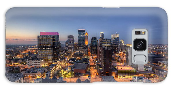 Minneapolis Skyline At Night Galaxy Case
