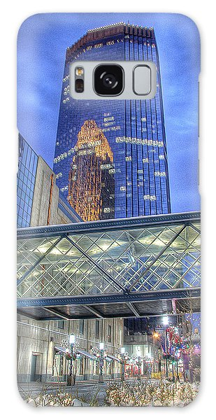 Minneapolis Skyline Photography Nicollet Mall Winter Evening Galaxy Case