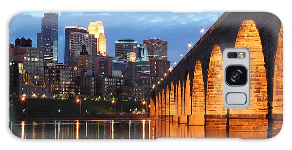 Minneapolis Skyline Photography Stone Arch Bridge Galaxy Case