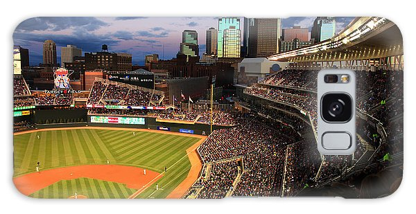 Minnesota Twins Minneapolis Skyline Target Field Galaxy Case