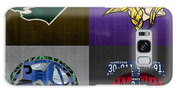 Recycle Galaxy Case - Minneapolis Sports Fan Recycled Vintage Minnesota License Plate Art Wild Vikings Timberwolves Twins by Design Turnpike