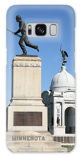 Minnesota And Pennsylvania Monuments At Gettysburg Galaxy Case