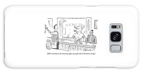 Minotaur At Bar Talking To Bartender Reaching Galaxy Case