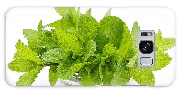 Herbs Galaxy Case - Mint Sprigs In Bowl by Elena Elisseeva