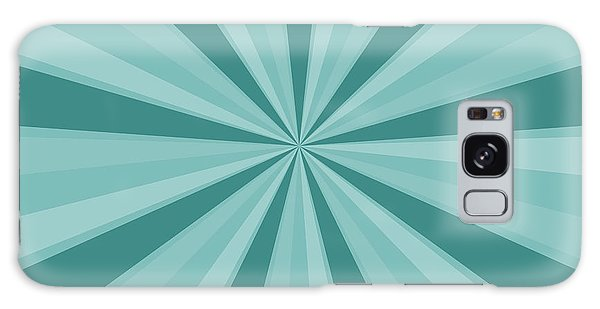 Mint Teal Sun Burst Galaxy Case by P S