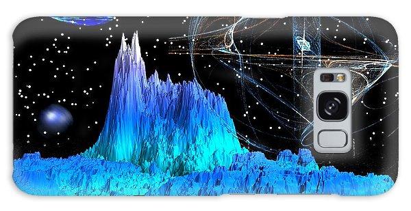 Mirrored Blue Image Galaxy Case