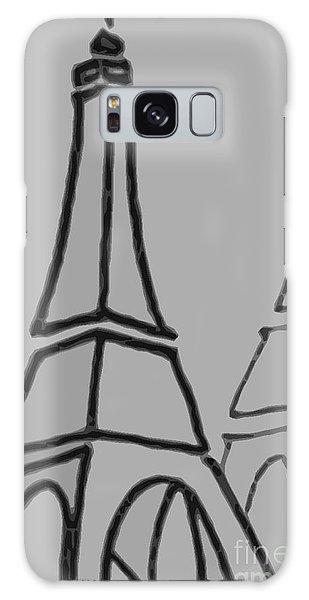 Mirrored Eiffel Tower Galaxy Case