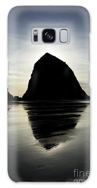 Mirrored Haystack Rock Galaxy Case