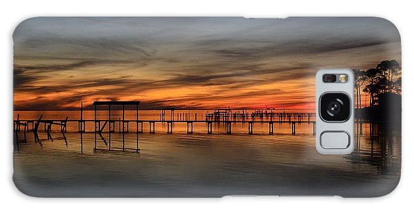 Mirrored Sunset Colors On Santa Rosa Sound Galaxy Case by Jeff at JSJ Photography