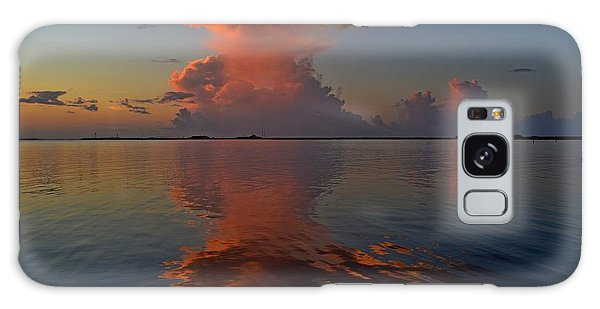 Mirrored Thunderstorm Over Navarre Beach At Sunrise On Sound Galaxy Case