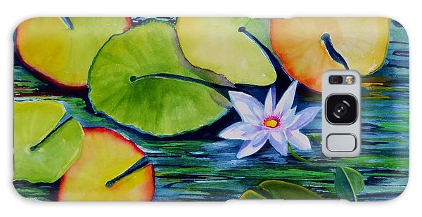 Whimsical Waterlily Galaxy Case
